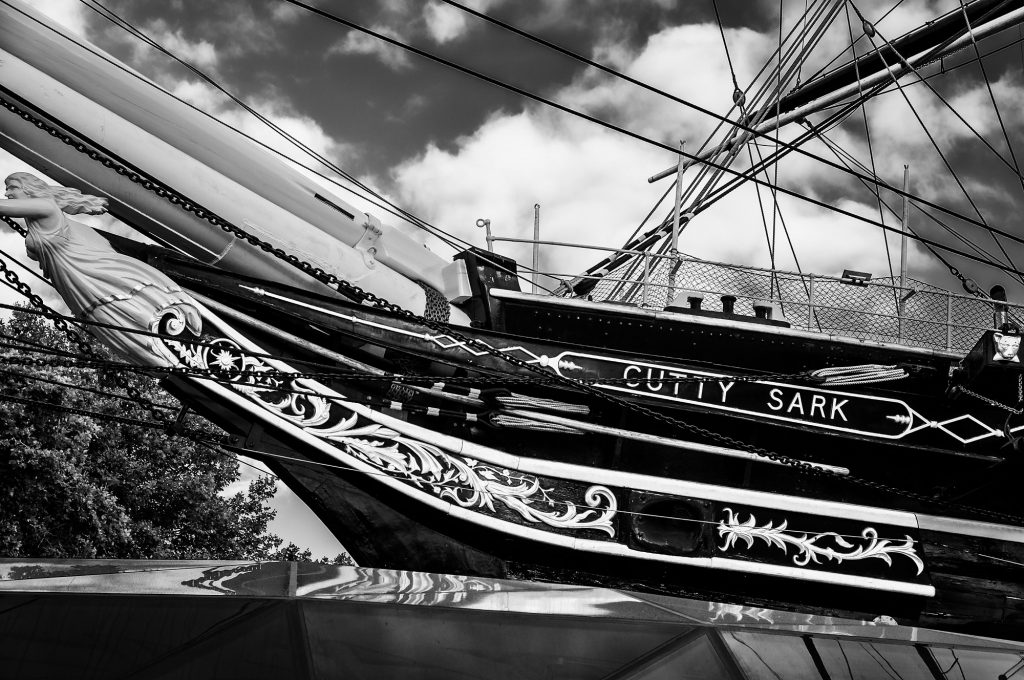 london-greenwich-cuttysark-bw